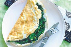 spinach - eggwhite-omelette