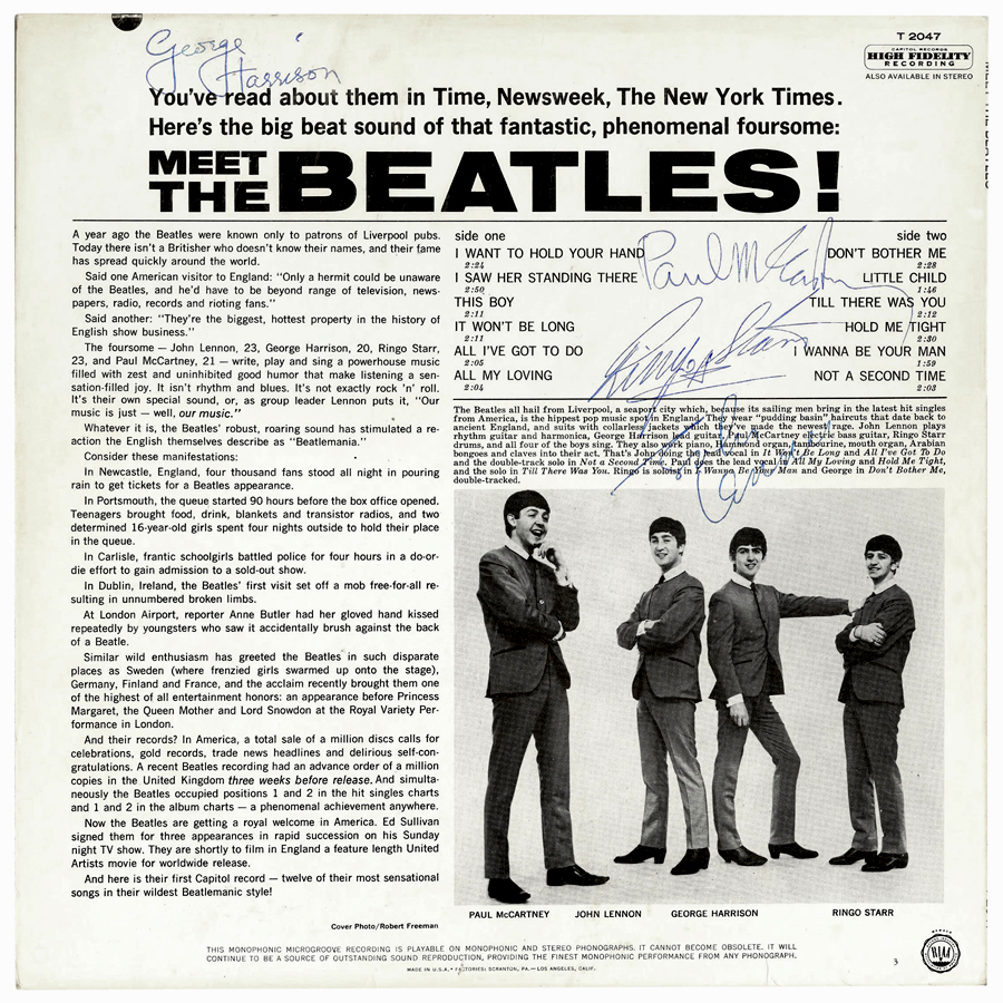 The Beatles Autographs Presented By Frank Caiazzo