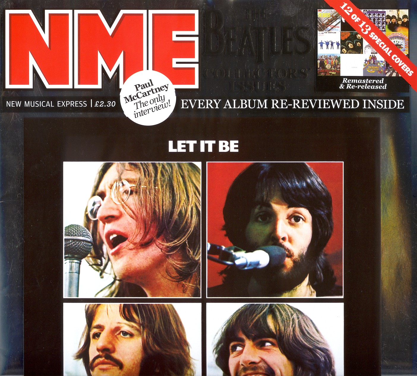 Cover number 12 of 13 special NME covers celebrating 09.09.09