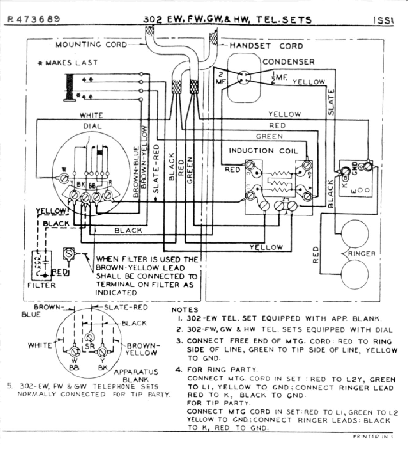 Wrg Western Electric Telephone Wiring Diagram