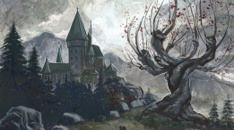 A beautiful art of the Whomping Willow.