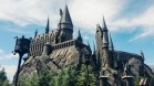 The Hogwarts castle in broad daylight.