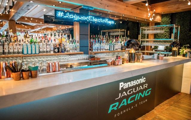 Jaguar Racing event held at Ristorante Beatrice during F1 weekend.