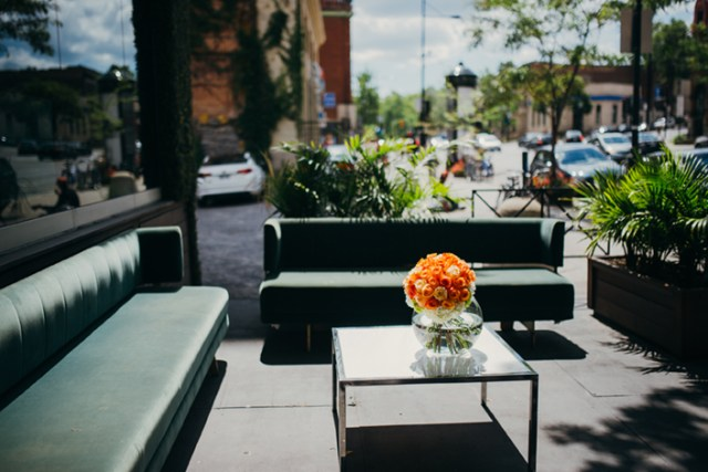 The outdoor terrasse at Ristorante Beatrice.