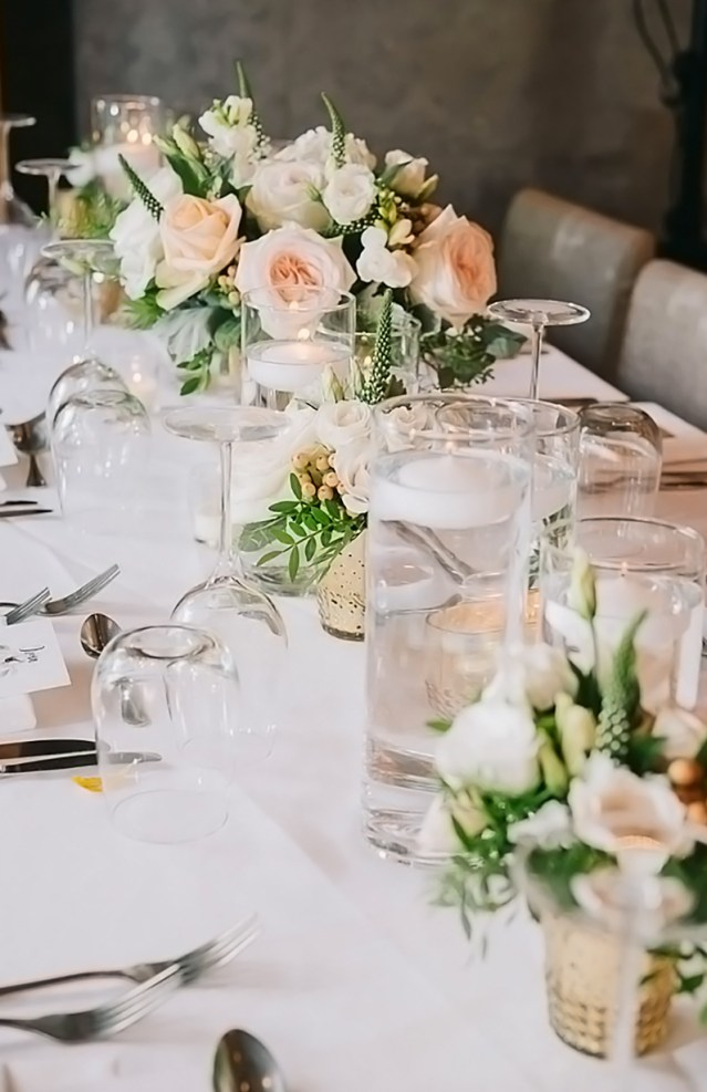 A table from an event catered by Ristorante Beatrice.