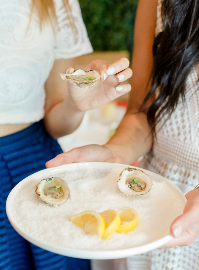 Fresh oysters served at an event held at Ristorante Beatrice.