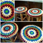Great Granny Rounds Stool Cover… Free Pattern Review!