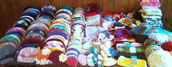 The heart of a Crocheter… Donating handmade work to those in need!!