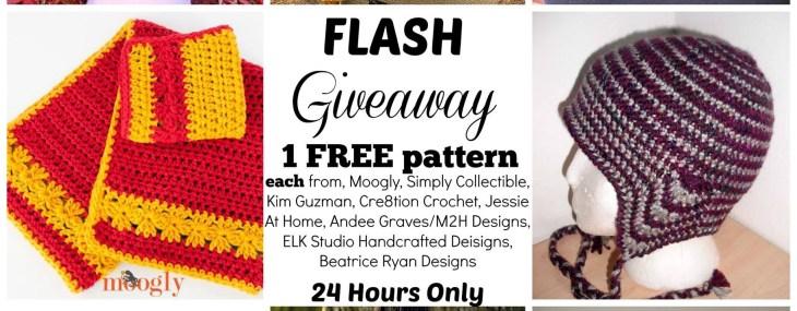 It' A Flash Free Pattern Giveaway Blog Hop~8 Great Crochet Designers!!