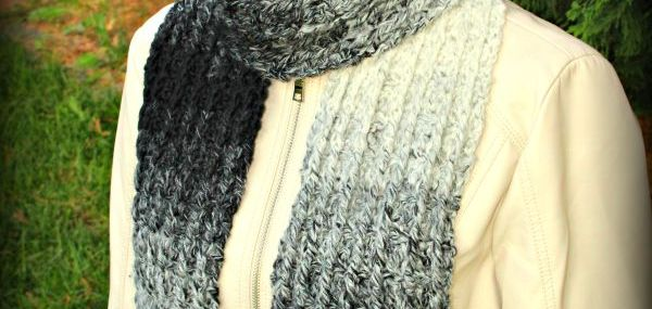 Ombre Ridges Scarf… New Free Crochet Pattern!!