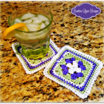 Sweet Summer Coaster.. Free Crochet Pattern!!!