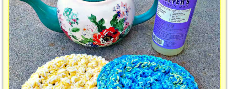 Thick & Quick Round Bumpy Scrubby…Free Crochet Pattern