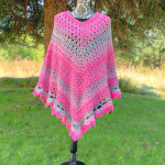 Amazing Grace Pretty in Pink Poncho…Free Crochet Pattern!!!
