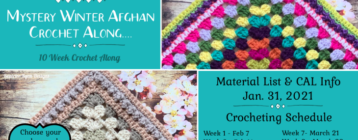2021 Crochet with Me!!! Mystery Winter Afghan Crochet Along… Material List!!!
