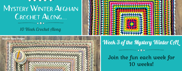 2021 Crochet with Me!!! Mystery Winter Afghan CAL… Week 4!