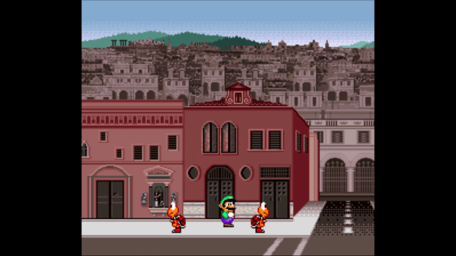 Lost and alone in a strange land, Luigi feels the tiresome burden of existence weighing heavily on his shoulders.