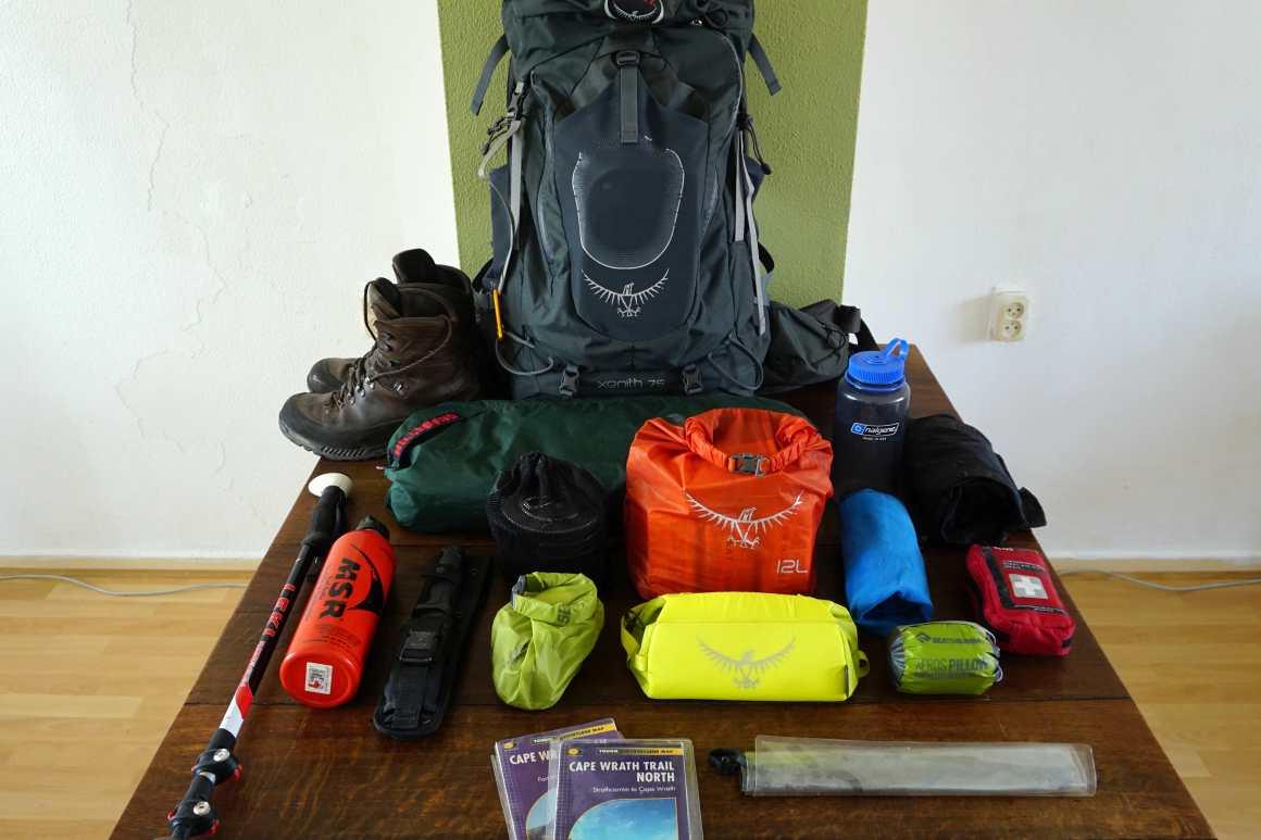 Cape Wrath Trail Gear