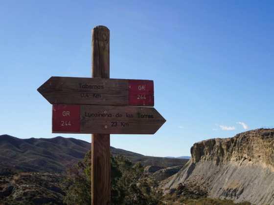 Tabernas Desert Signpost
