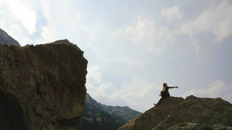 Hiking Bosnia-Herzegovina rocks