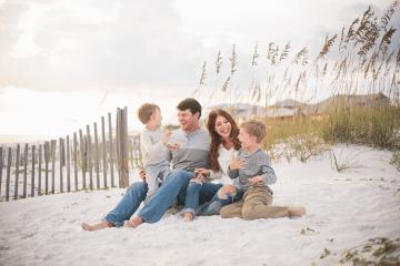 Josh & Jennifer's Family at Dune Allen Beach, FL