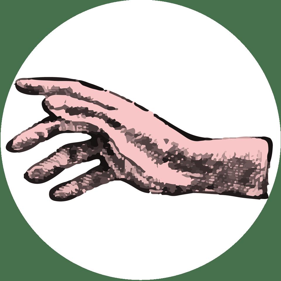 sketch of hand