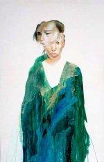 "Siren, 1991 Acrylic/canvas 61 1/2 X 40"""