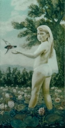 "Reama, 1986, Acrylic/canvas, 48 x 24"""