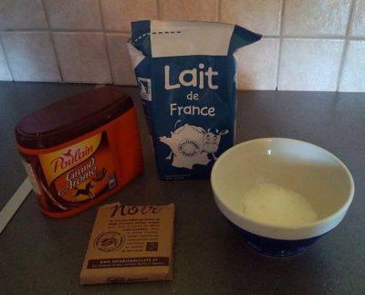 Glace maison au chocolat