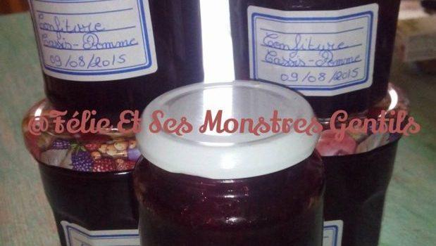 Confiture Pomme Cassis faite Maison {Recette}