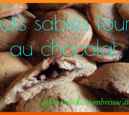 Biscuits sablés fourrés au chocolat façon kangoo {Recette}