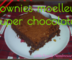 Brownies moelleux super chocolaté {Recette}