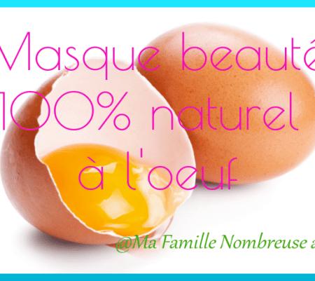 Masque beauté 100% naturel à l'oeuf