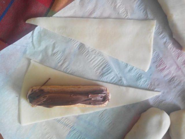 Boudins sablés croquants au chocolat
