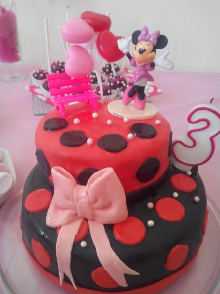 sweet table minnie mouse / gateau anniversaire