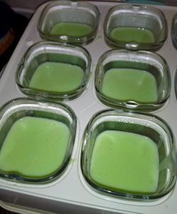 Crème dessert à la pistache en yaourtière