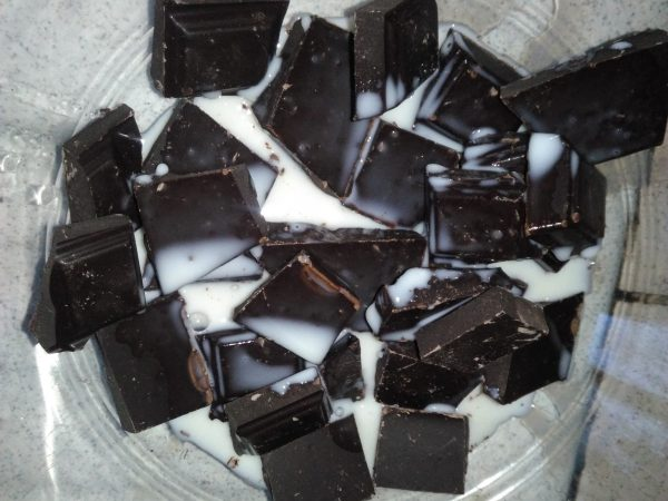Mousse au chocolat et M&M's