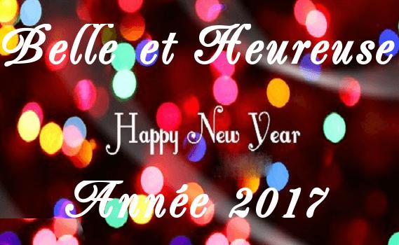 Voeux pour 2017 : joie, bonheur et santé