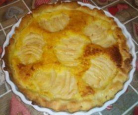 recette de la tarte amandine aux poires