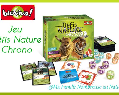 Le jeu Défis Nature Chrono de BIOVIVA