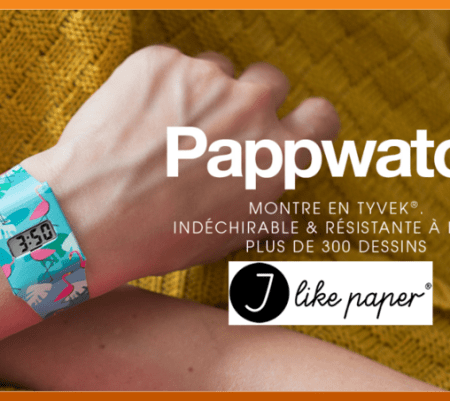 La montre recyclable et design Pappwatch