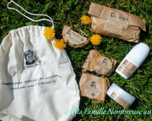 Les cosmétiques naturels et artisanaux COMME AVANT