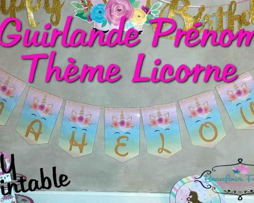 Guirlande Prénom Licorne {DIY Printable}