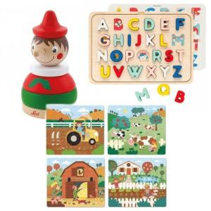 puzzles et cubes en bois de 6 mois à 6 ans