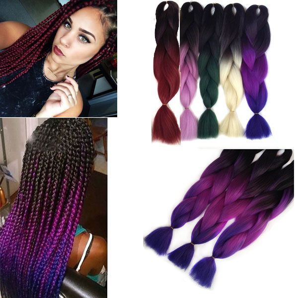 extensions cheveux meches tresse africaine afro braid ombre tie dye