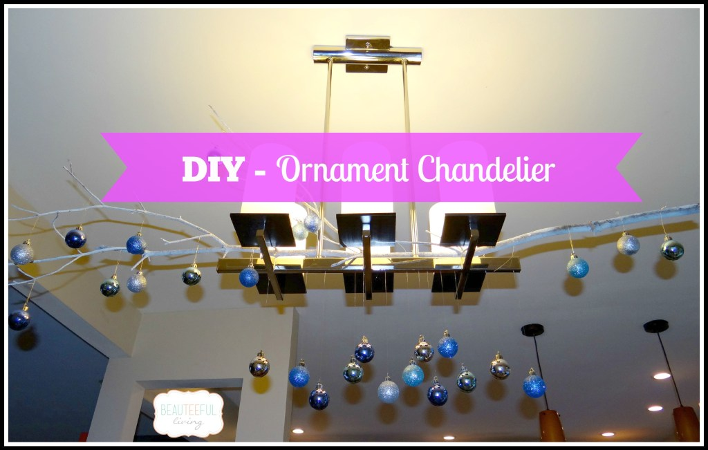 Ornament Chandelier DIY