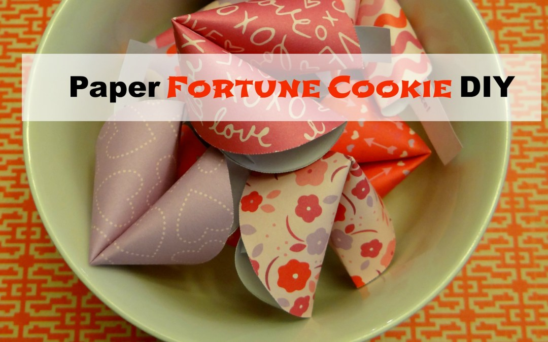 Paper Fortune Cookie DIY