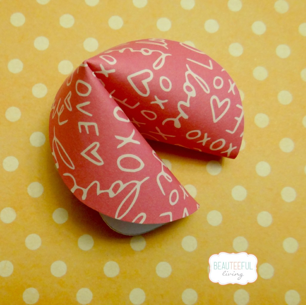 Paper fortune cookie single