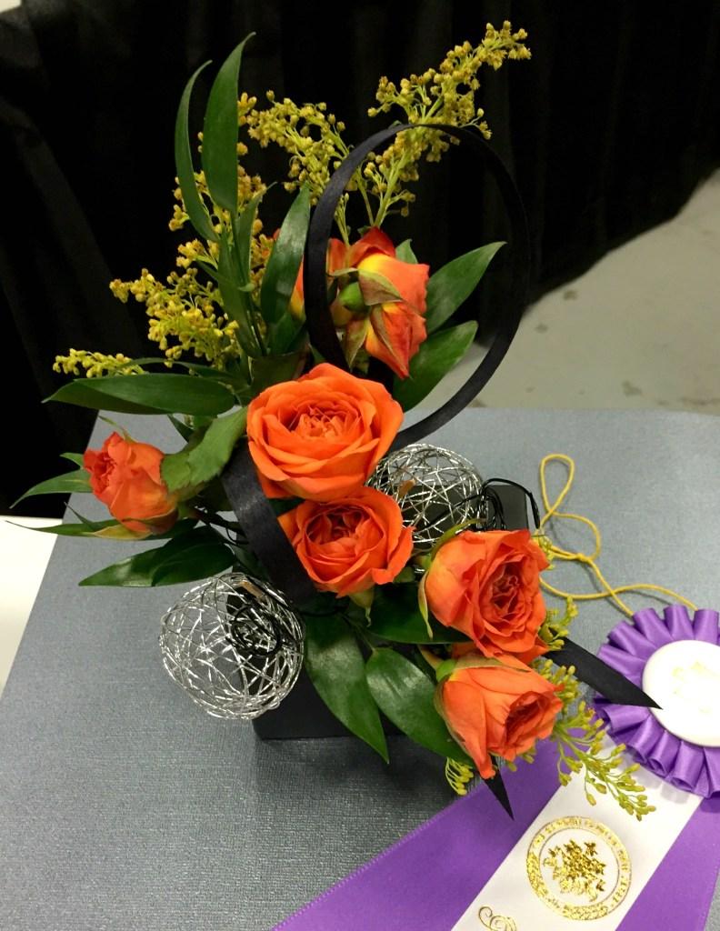 Orange rose arrangement