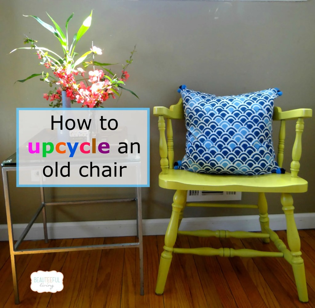 Upcycled Yellow Chair rev
