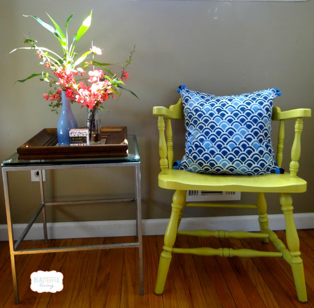 Upcycled Yellow Chair